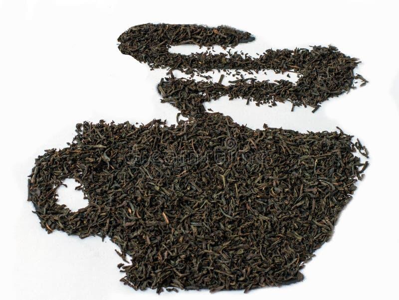 black låter vara tea Grått te för greve arkivbild