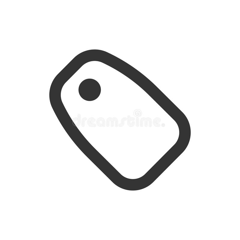 Black Label Icon. Simple Illustration Of A Black Label Icon vector illustration