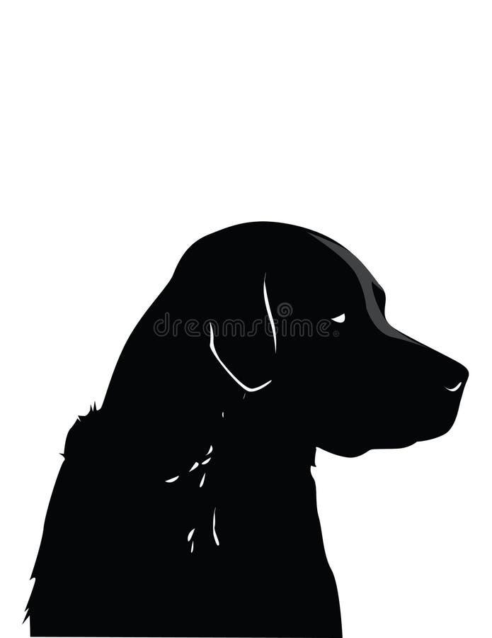 Black Labrador vector illustration