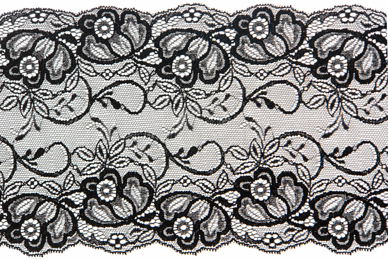 Black lace stock image