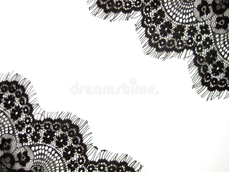 Black lace royalty free stock photos