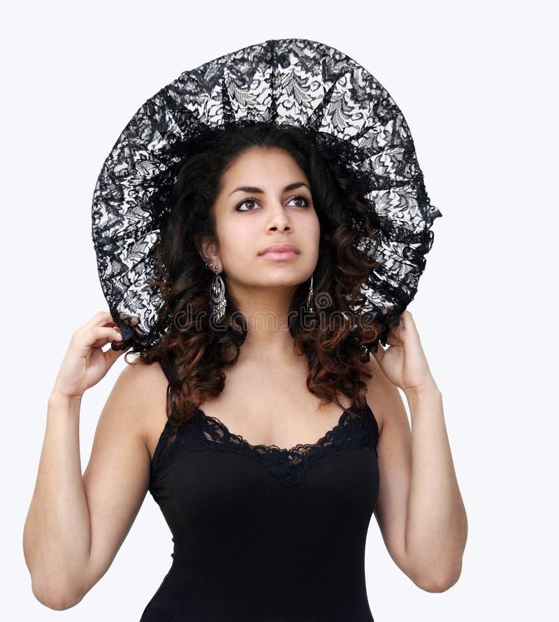 Black lace beauty royalty free stock image
