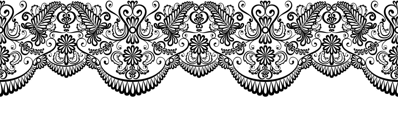 Black lace border royalty free illustration