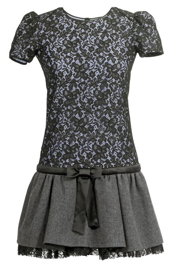 Black lace dress stock image