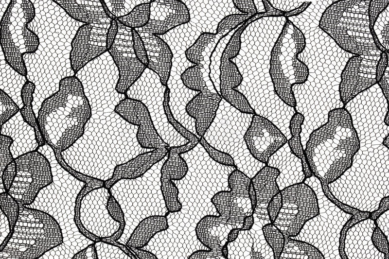 Download Black Lace Fabric With Flower Pattern Stock Photo - Image of background, mesh: 11871912