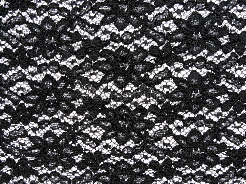 Black lace fabric stock photo. Image of fabric, macro ...