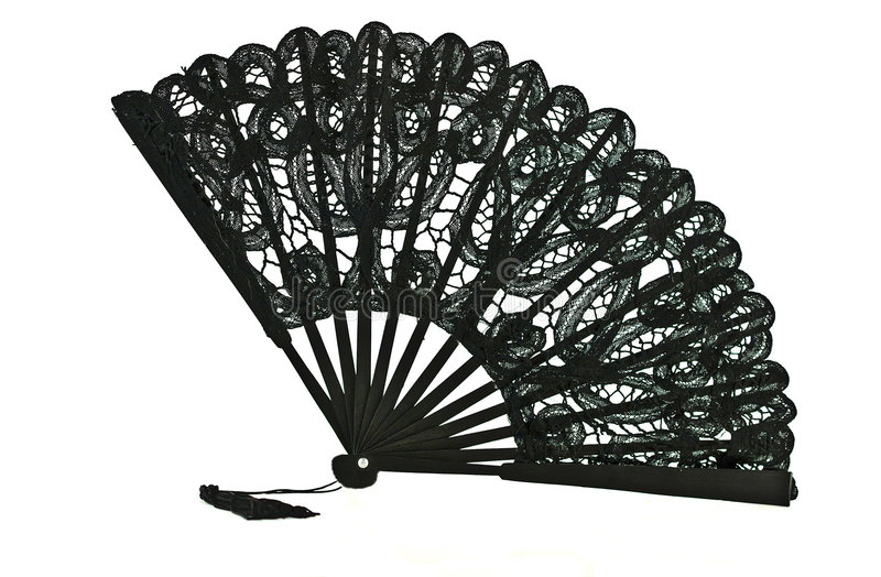 Black Lace Fan Royalty Free Stock Photography