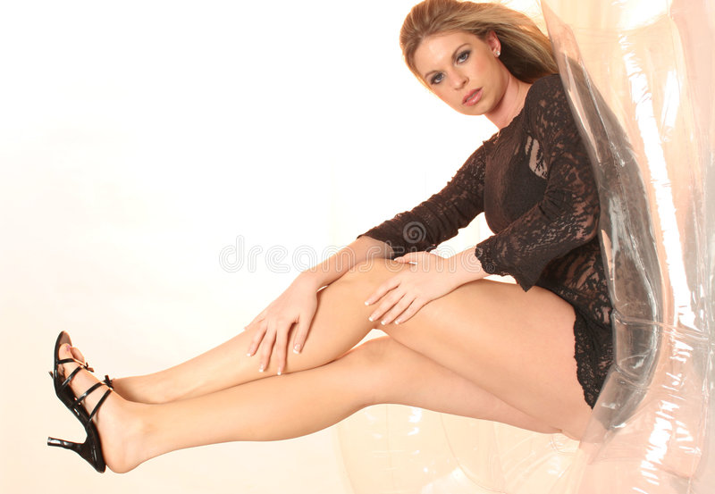 Download Black lace glamour 2 stock image. Image of skin, couch - 615093
