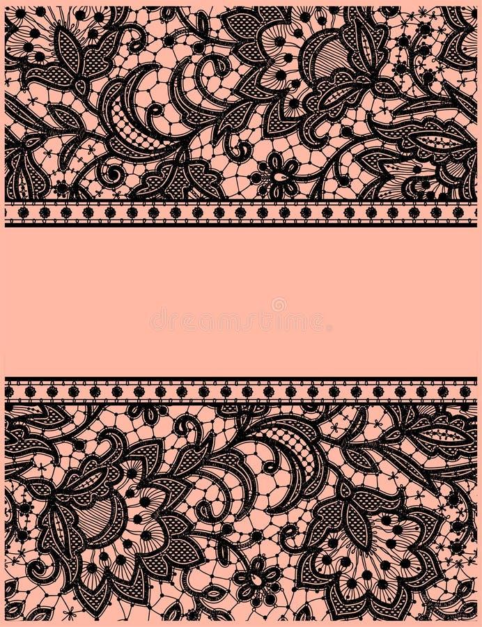 Black Lace. Greeting Card. royalty free illustration