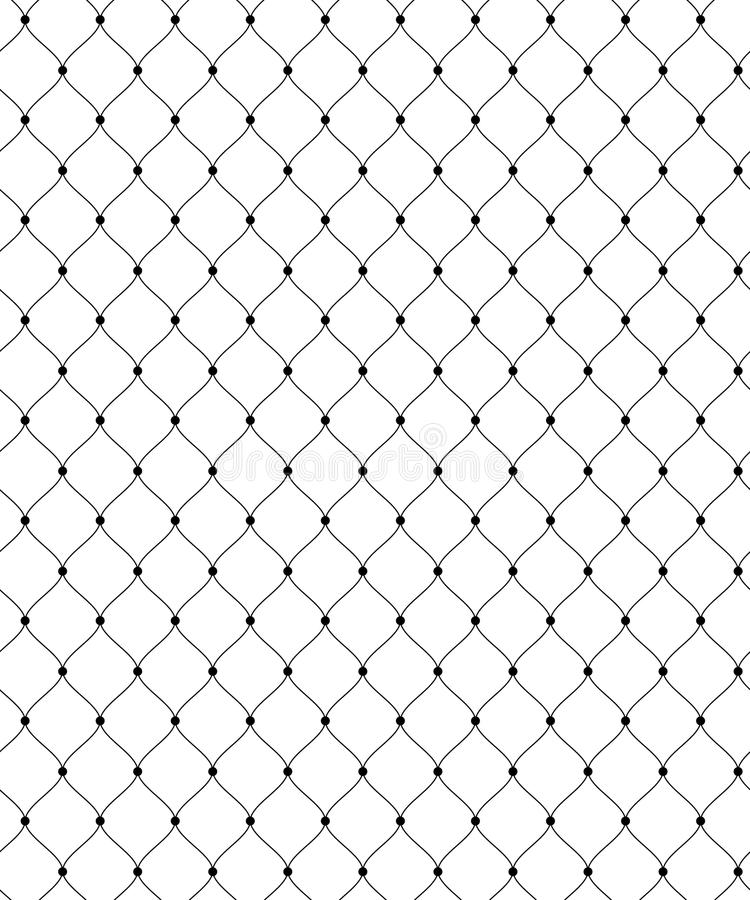 Black lace grid. Abstract seamless pattern for textile and design. Simple black lace grid with dots vector illustration