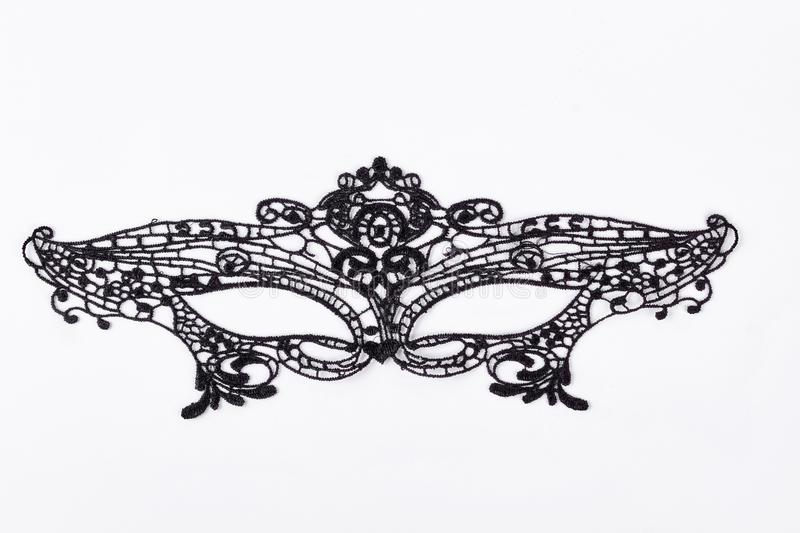 Black lace mask for masquerade. royalty free stock images