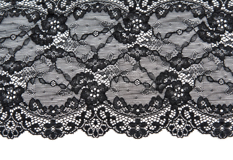 Black Lace With Pattern With Form Flower Stock Photo