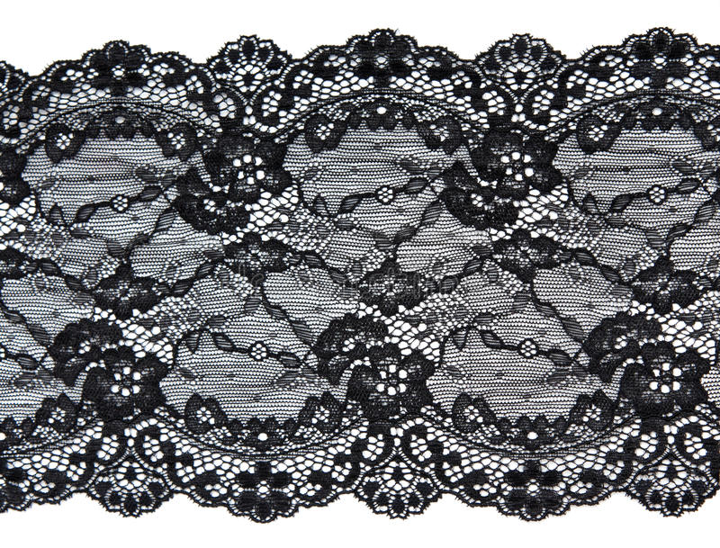 Black lace with pattern in the manner of flower royalty free stock image