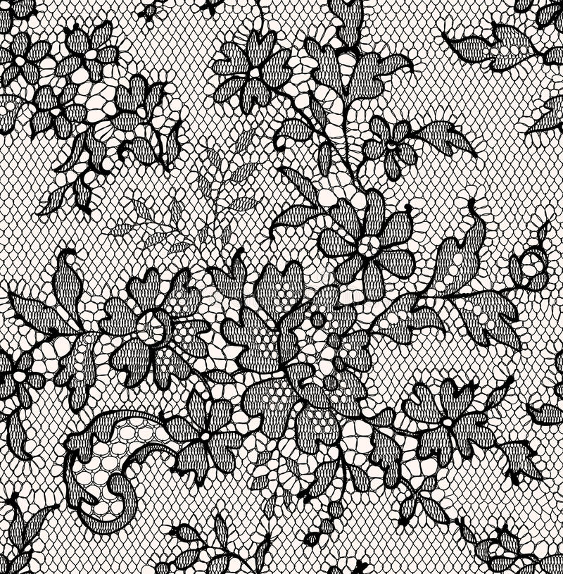 Free Black Lace. Seamless Pattern. Stock Photos - 54631333