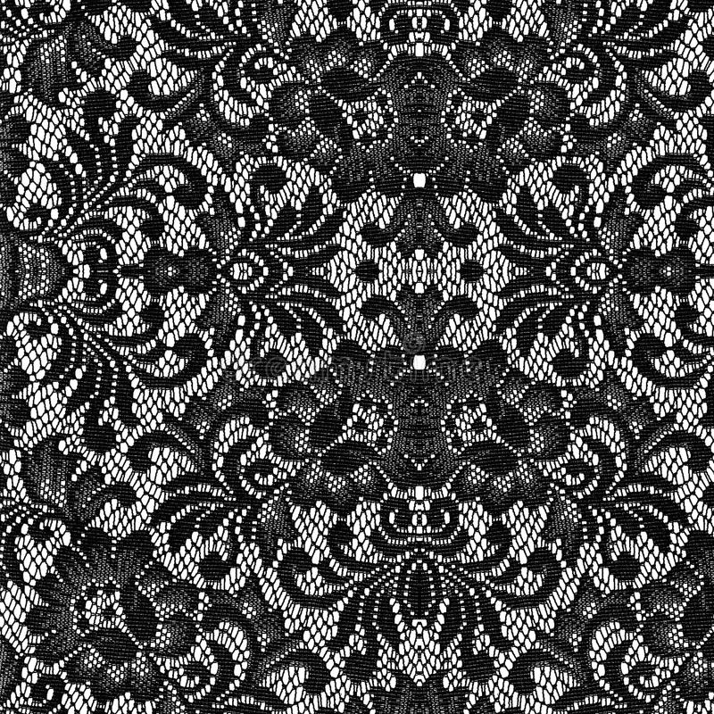 Black lace texture. Beautiful black lace texture on with background royalty free stock photos