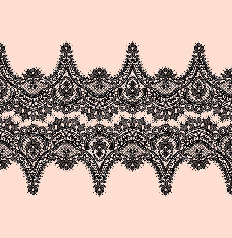Black Lace Vector Pattern vector illustration