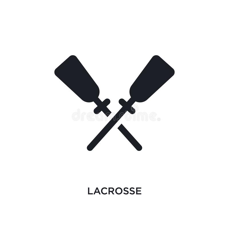 black lacrosse isolated vector icon. simple element illustration from sport concept vector icons. lacrosse editable logo symbol stock illustration
