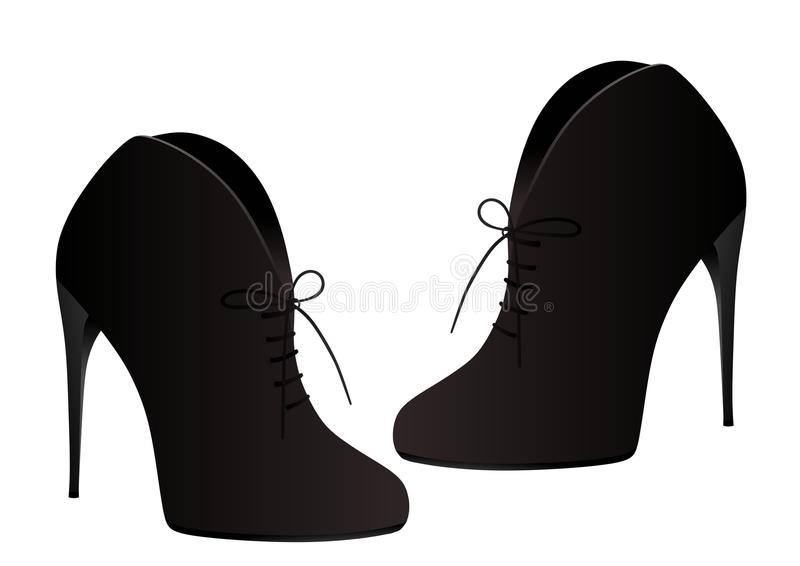 Black lady shoes royalty free stock photography