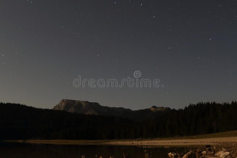 Download Black Lake with starts stock image. Image of highland - 97763151