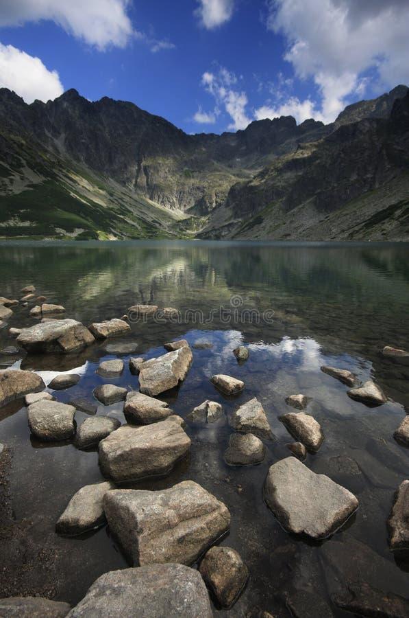 Black Lake Tatra royalty free stock image