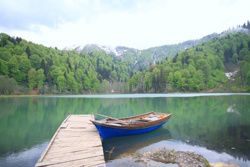 Black Lake in Turkey stock photos