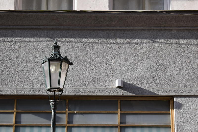 Black lamp in Prague royalty free stock photo
