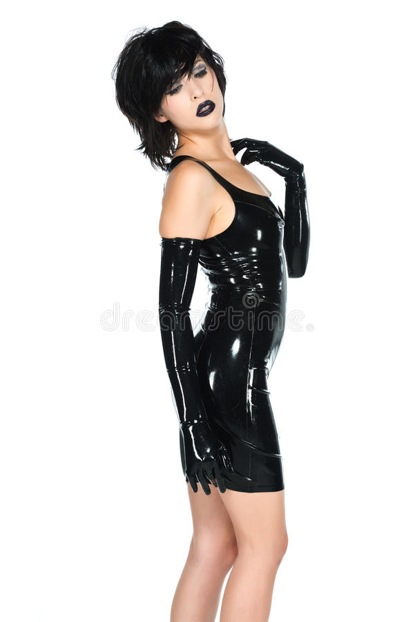 Black latex stock image