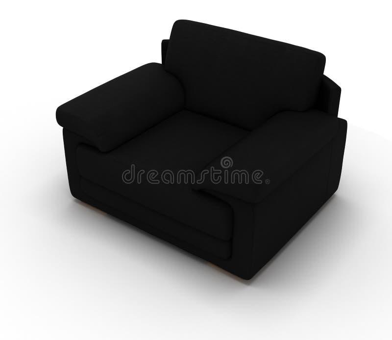 Black Leather Armchair stock photos
