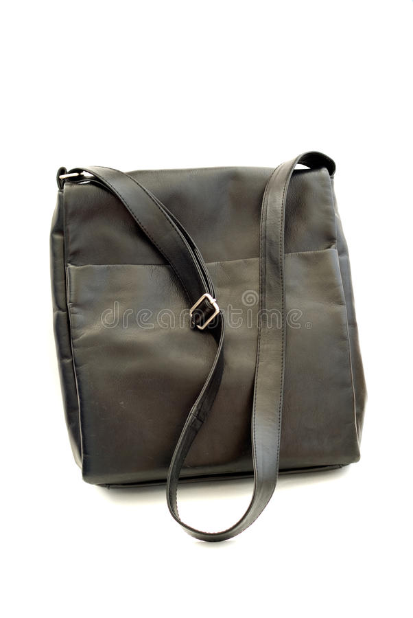 Black Leather Bag Royalty Free Stock Photo