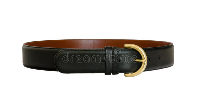 Black Leather Belt stock image