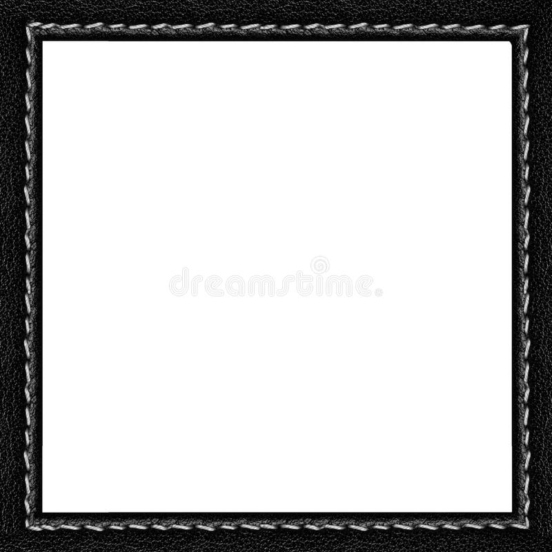 Black leather frame stock photo. Image of leather, thread - 40545146