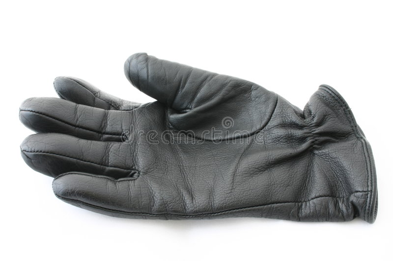 Download Black leather glove stock photo. Image of object, close - 428342