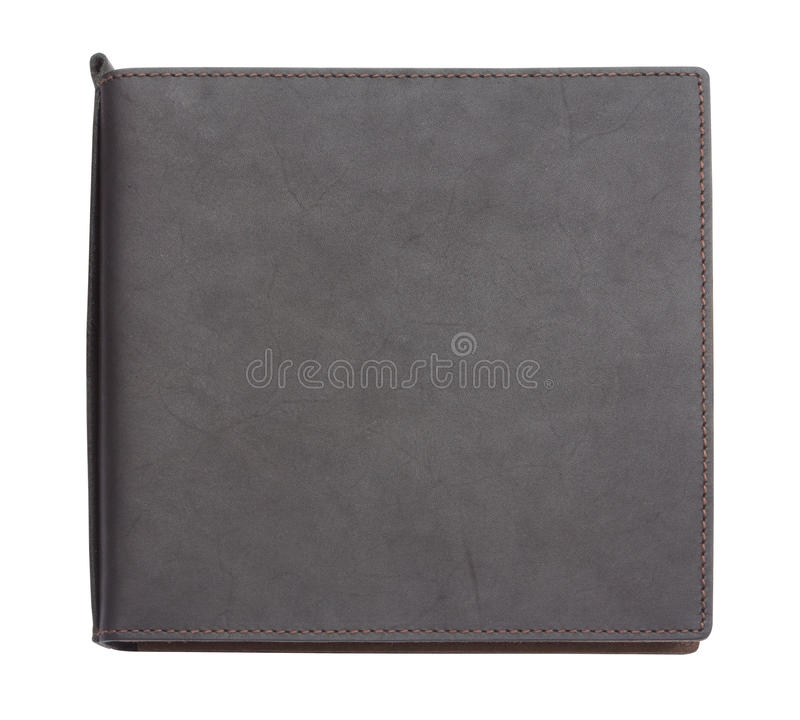 Black leather note book on white background royalty free stock images