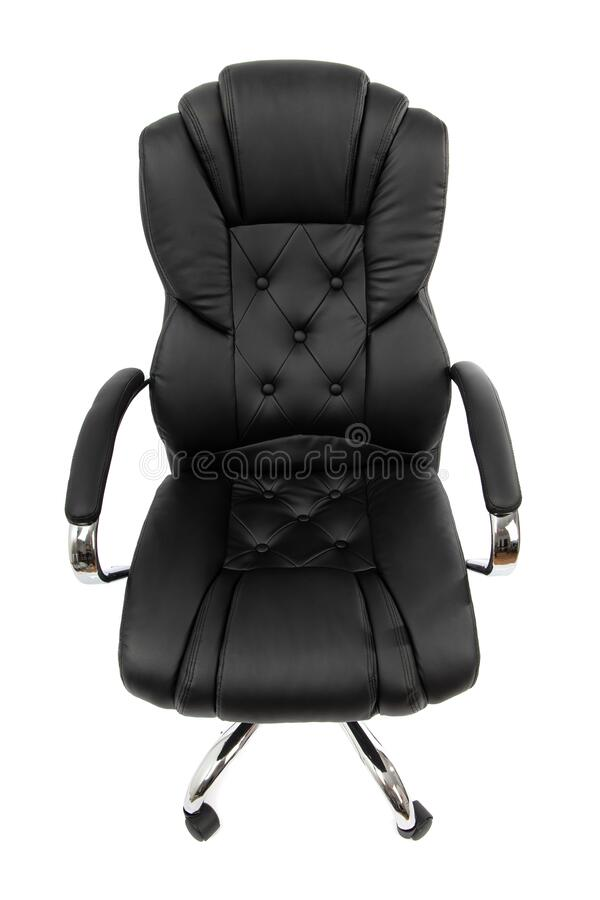 Black Leather Office Chair Isolated On White Top View Stock Image Image Of Plastic Decor 172059771