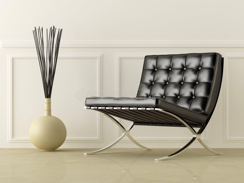Black leather seat vector illustration