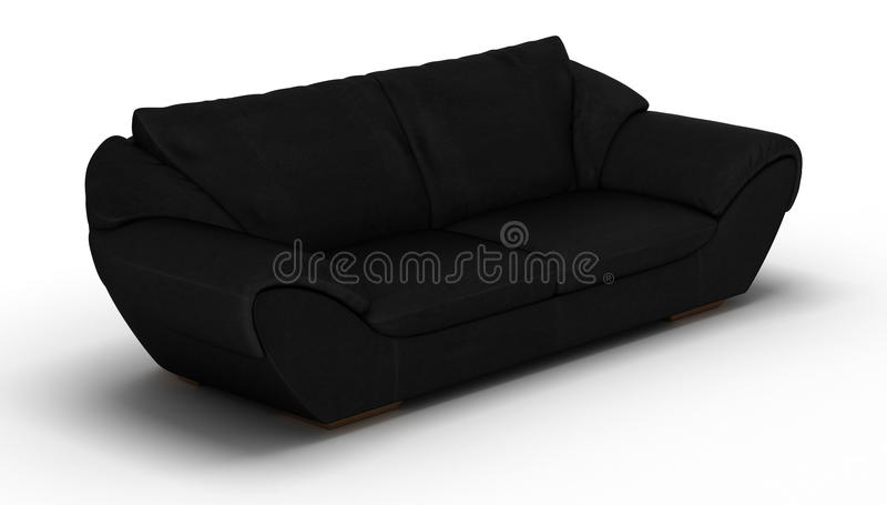 Black Leather Sofa royalty free stock images