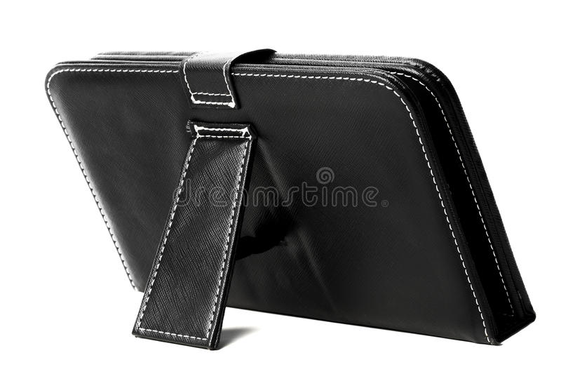Download Black leather tablet case stock photo. Image of case - 26168198