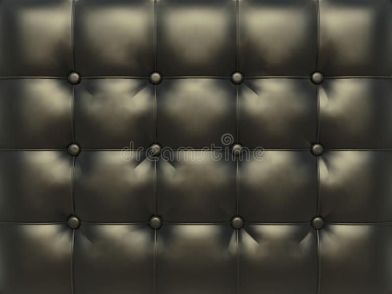 Black leather texture. For background vector illustration