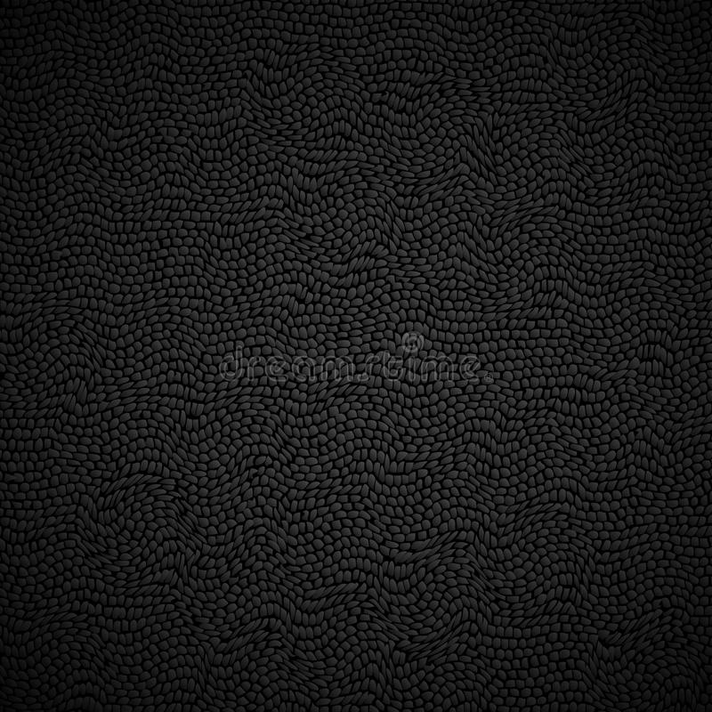 Black leather texture. Vector background stock illustration