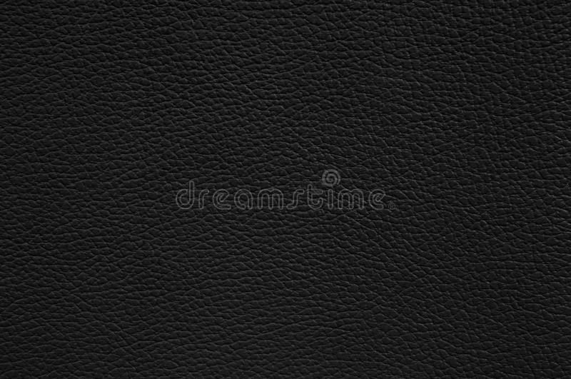 Black leather texture as background royalty free stock image