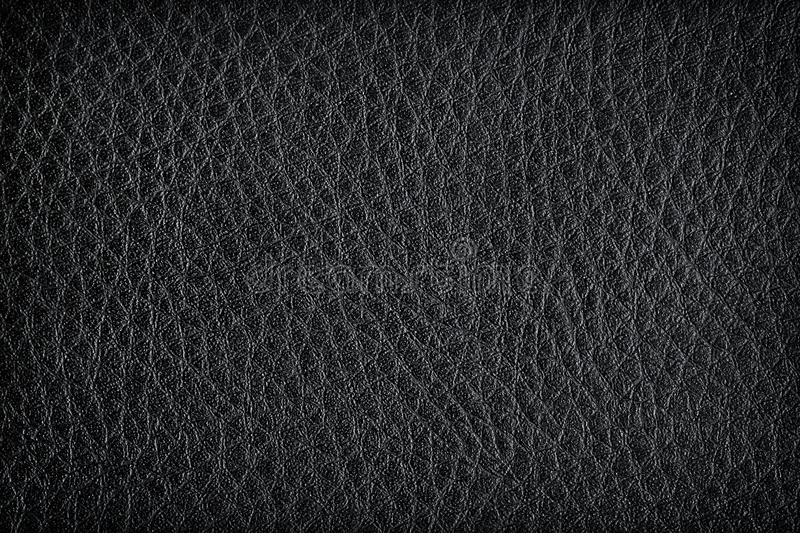 Black leather texture for backgroun. The black leather texture for background royalty free illustration