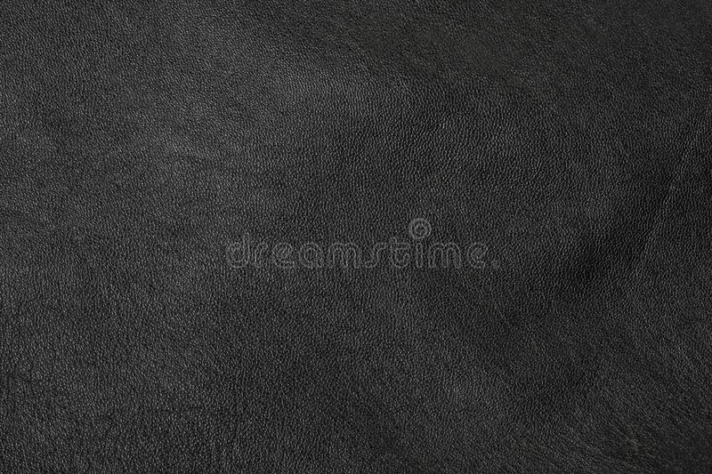 Black leather texture. Background close up royalty free stock image