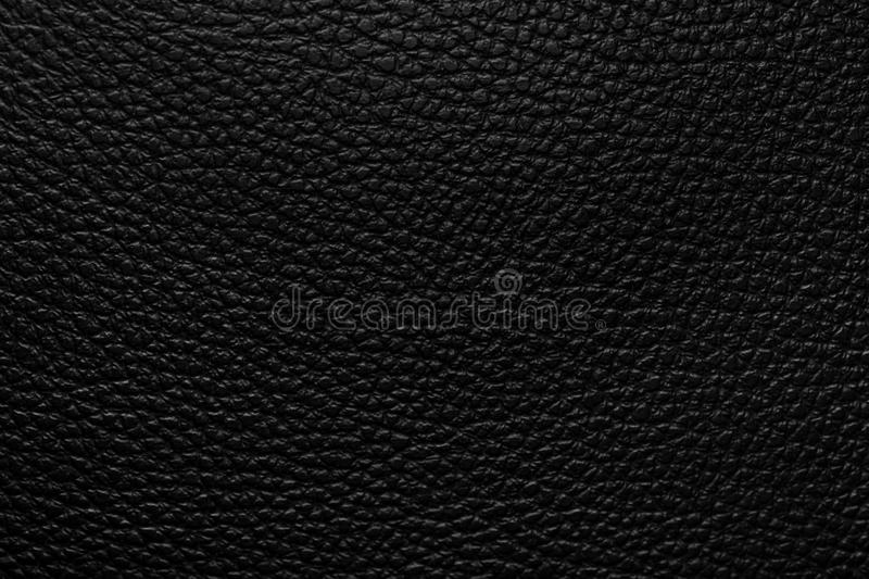 Black leather texture. Or background royalty free stock photography