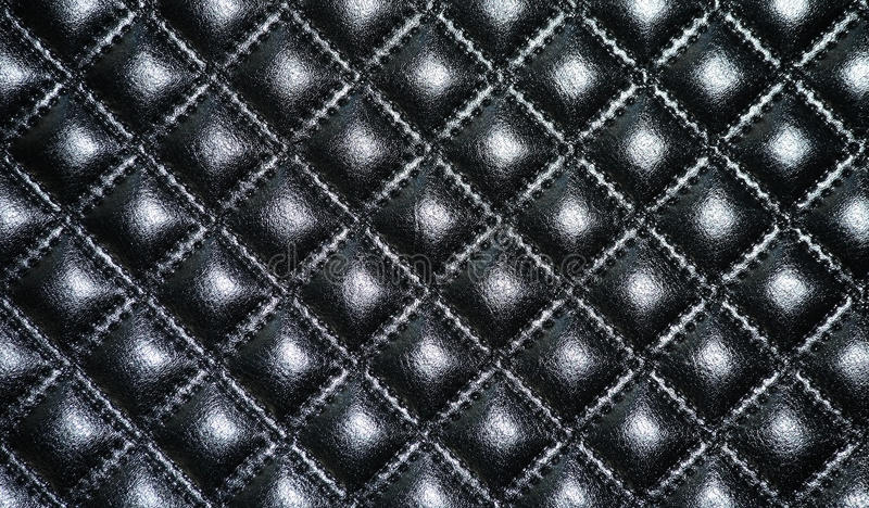 Black leather upholstery of furniture royalty free stock photos