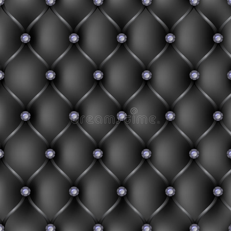 Download Black Leather Upholstery Pattern Background Stock Vector - Image: 28840954