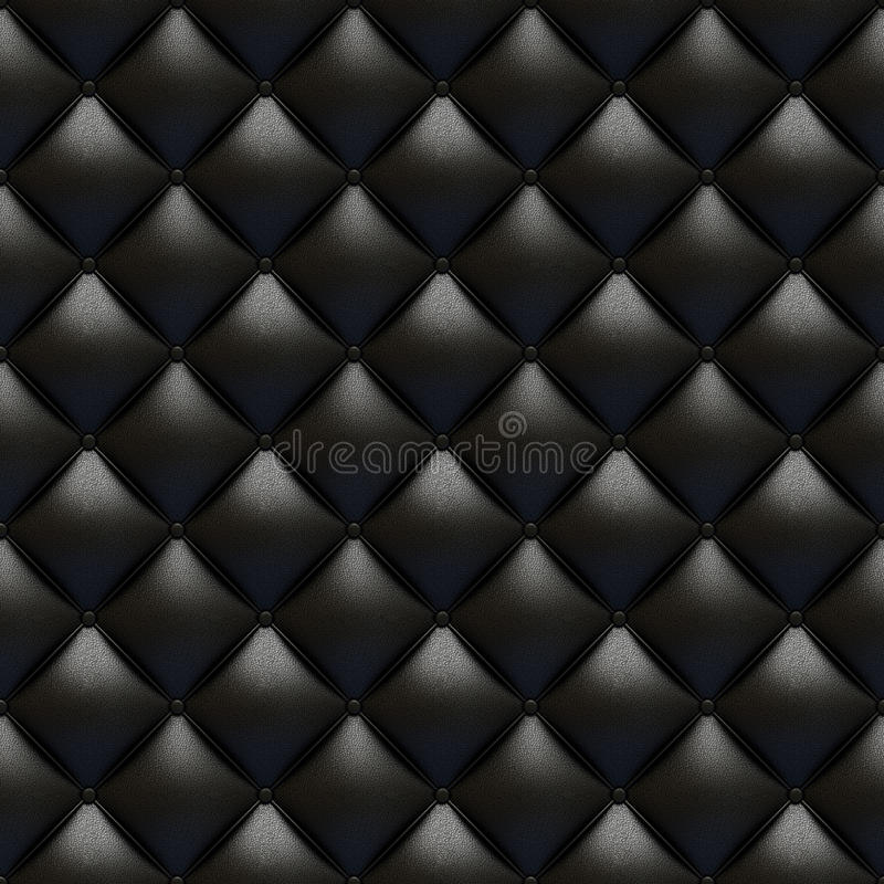Black leather upholstery texture. Totally seamless and tile able with great detail for background, check my port for similar royalty free illustration
