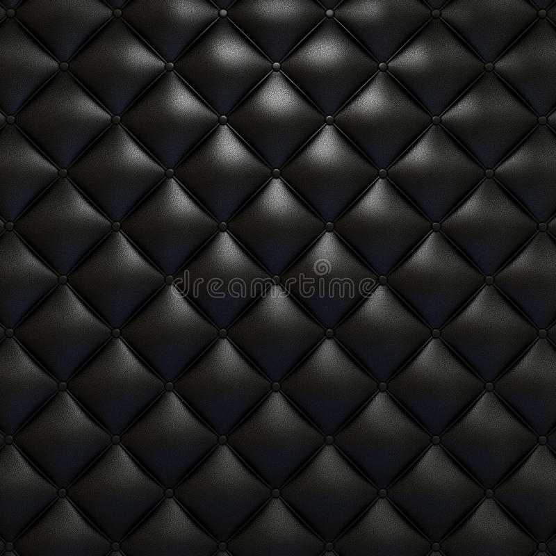 Black leather upholstery texture. With grat detail for background, check my port for a seamless version royalty free illustration