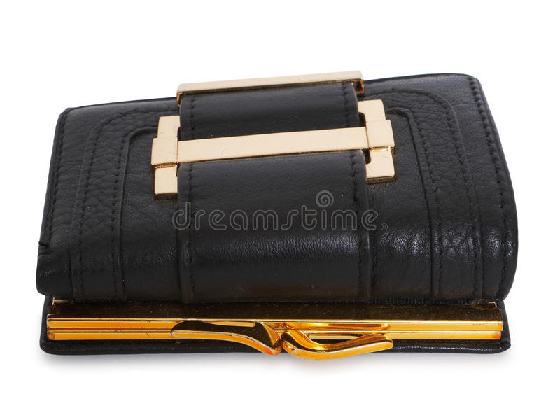 Download Black leather wallet stock image. Image of macro, finance - 14143301