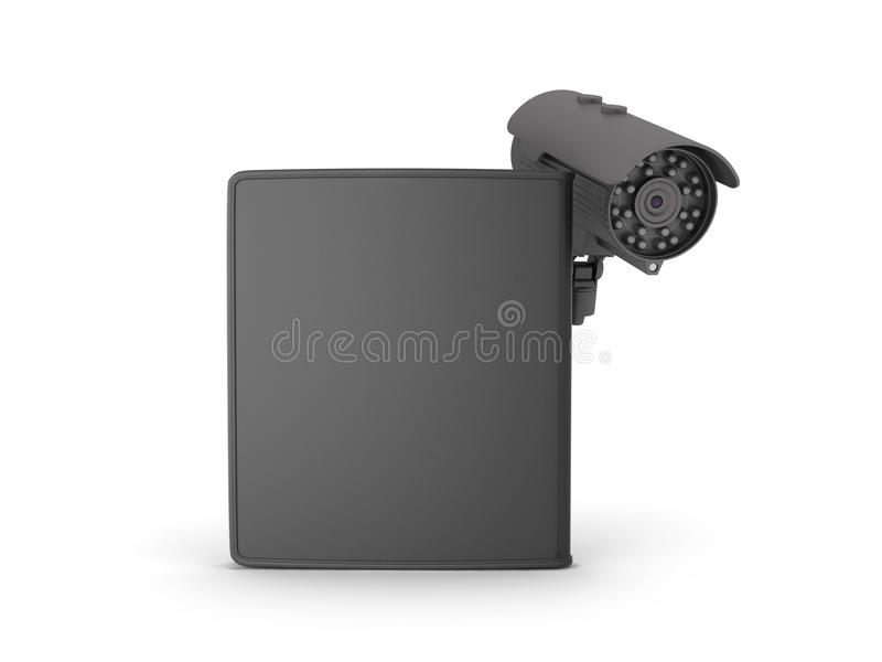 Download Black Leather Wallet And Video Surveillance Camera Stock Illustration - Illustration of protect, purse: 39511396