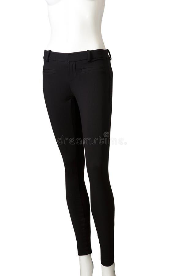 Black leggins. Isolated on white background royalty free stock images